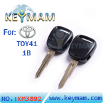 Old Toyota car 1 button remote key shell(right slot,without logo)