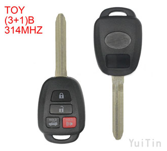TOYOTA  3+1 button 314Mhz remote key -Without chip