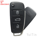 AUDI  keyless-go folding remote key ASK433MHz 3 buttons ID48 chip