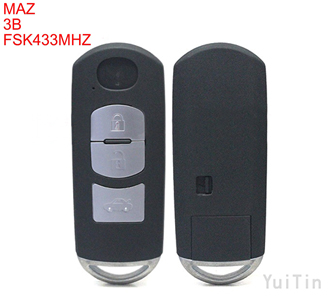 After matker MAZDA M6 smart remote key 3 button FSK 433MHz 7953P chip