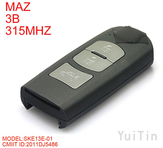 Original MAZDA Smart remote key 3 button 315MHz