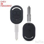 CHEVROLET remote key 3 button FSK433MHz 4D60chip