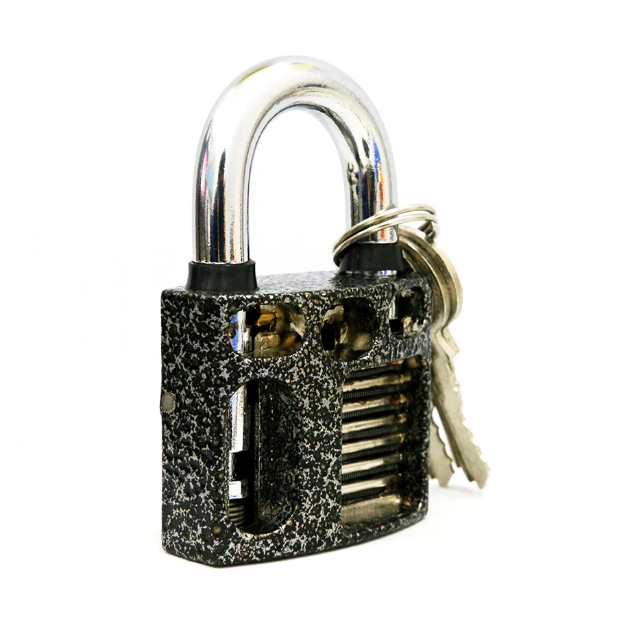 Perspective Cutaway Inside View Practice Padlock Lock Locksmith Skill Training