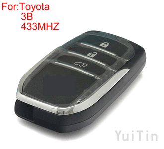 TOYOTA FORTUNER 3buttons FSK 433MHZ keyless-go remote 8A chip
