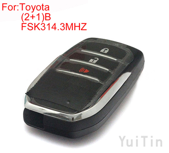 TOYOTA  HILUX (2+1)buttons FSK 314.3MHZ keyless-go remote 8A chip