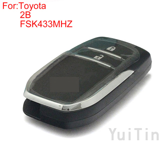 TOYOTA HILUX 2buttons FSK 433MHZ keyless-go remote 8A chip