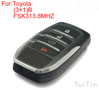 TOYOTA  FORTUNER (3+1) buttons FSK313.8MHZ keyless-go remote 8A chip