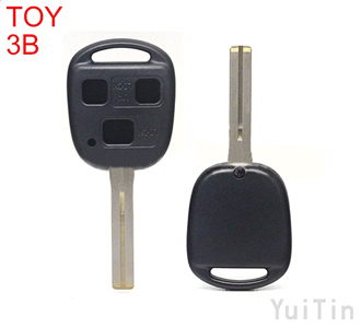 TOYOTA  remote shell 3 buttons TOY48 short