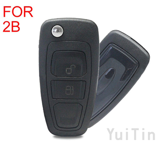 FORD Focus folding remote key shell 2 buttons HU101(with concave)