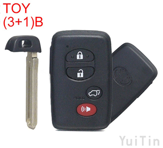 TOYOTA Camry Smart remote key shell (3+1) buttons
