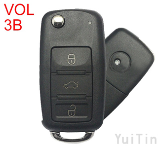 Volkswagen Touareg remote key shell 3 buttons
