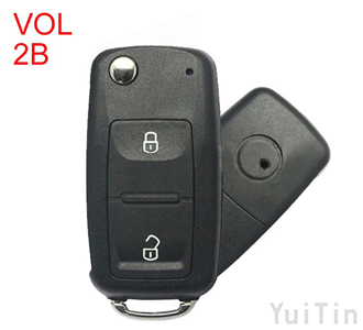 Volkswagen Touareg remote key shell 2 buttons with waterproof HU66
