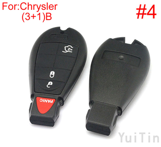 [CHRYSLER] remote key shell (3+1)buttons(New type big logo position buckle bit Buttons can be dismantled)(4number )