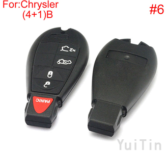 [CHRYSLER] remote key shell (4+1)buttons(New type big logo position buckle bit Buttons can be dismantled) (6 number )