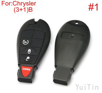 [CHRYSLER] cherokee remote key shell (3+1)buttons(New type big logo position buckle bit Buttons can be dismantled) (1 number )