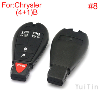 [CHRYSLER] cherokee remote key shell (4+1)buttons(New type big logo position buckle bit Buttons can be dismantled) (8number ))(8号) )