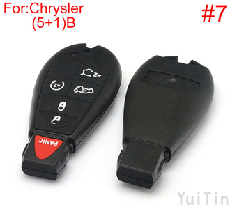 [CHRYSLER] Cherokee remote key shell (4+1)buttons(big logo position buckle bit Buttons can be dismantled) (7 number )