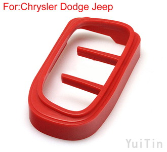 [CHRYSLER] remote key shell ornament (Red)