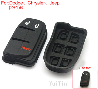 Button rubber 2+1button (use for Dodge [CHRYSLER] Jeep)