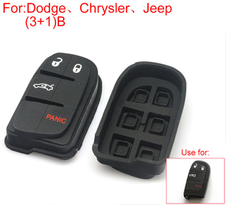Button rubber 3+1button (use for Dodge [CHRYSLER] Jeep)
