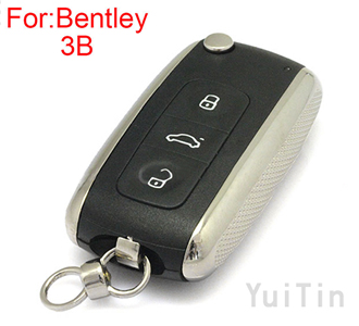 Bentley remote key shell 3 buttons (OEM)