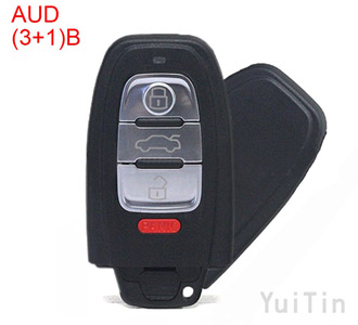 AUDI A4L Q5 A6L A8L remote key shell 3+1 buttons (with Battery Holders)