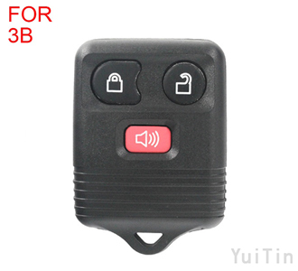 [FORD] remote key 3 buttons 433 mhz and 315mhz Adjustable Frequency (black )(use for 2002-2007focus Taurus Territory Tribute Falcon Fair lorr)