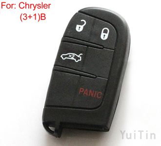 CHRYSLER remote key shell 3+1 button