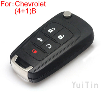[CHEVROLET] remote key shell (4+1)buttons
