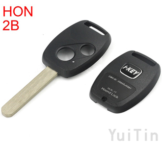 [HONDA] remote key shell 2buttons with sticker(with chip positions and without chip positions 2in1)easy to cut copper-nickel alloy HON66