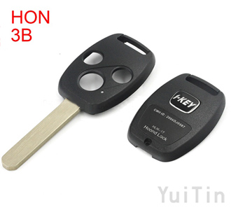 [HONDA] remote key shell 3buttons with sticker(with chip positions and without chip positions 2in1)easy to cut copper-nickel alloy HON66