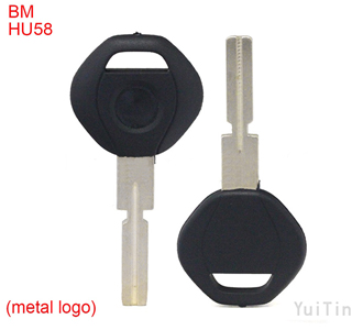 [BMW] transponder key shell 4 track (metal logo)