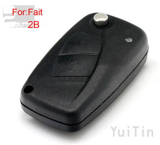 [FIAT] remote key shell 2 button (black color)