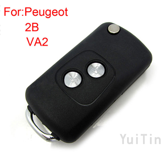 [PEUGEOT] remote key shell 2 button ( 307 without groove)