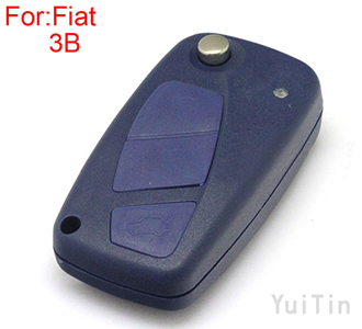 [FIAT] flip remote key shell 3 button