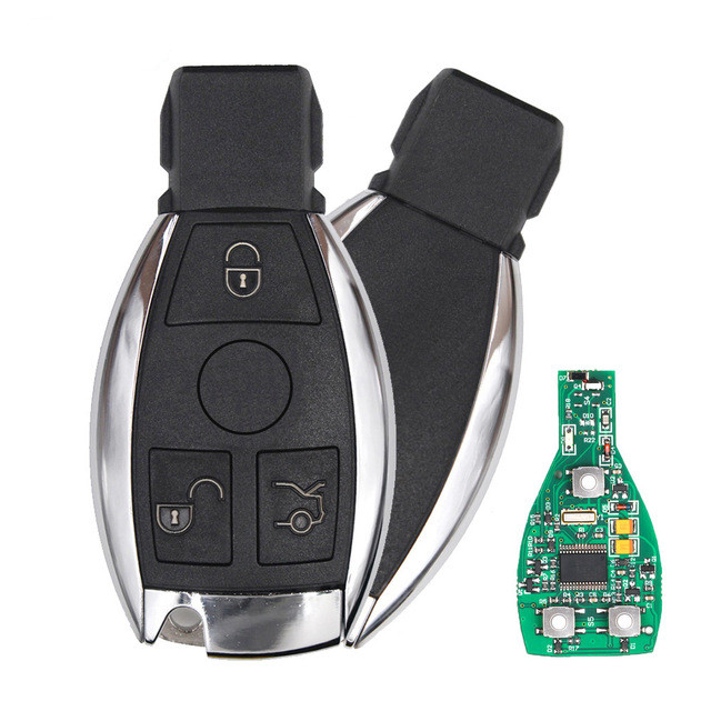 Smart Key 3 Buttons 433MHz for Mercedes Benz Auto Remote Key Support NEC And BGA 2000+ Year(2 Batteries)