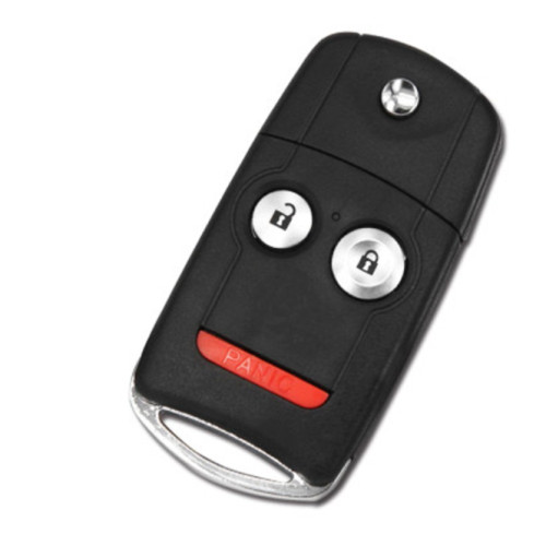 3 Buttons With Panic Only Board OEM 313.8MHz PCF7936 Chip Flip Car Key For Acura MDX RDX ILX N5F0602A1A 2007-2013