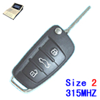 315Mhz A6L style Size 2 work with Mister Remote QN-H618
