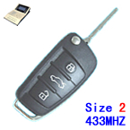 433Mhz A6L style Size 2 work with Mister Remote QN-H618