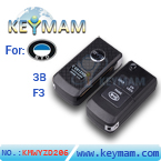 BYD F3 3 button folding remote key shell