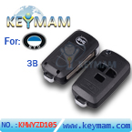 BYD 3 button flip remote key shell