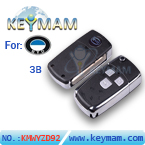 BYD F3 3 button flip remote key shell