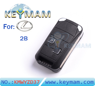 Lexus 2 button remote flip key shell
