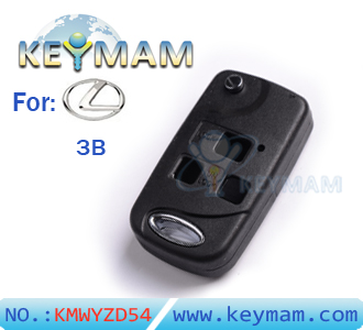Lexus 3 button remote folding key shell