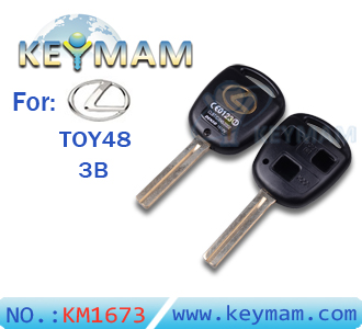 Lexus TOY48 3 button remote key shell(41mm)