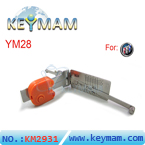 Buick YM28 lock  pick & reader 2-in-1 tool