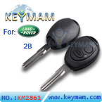 Landrover 2 button remote key shell
