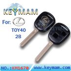 Lexus TOY40 2 button remote key shell