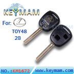 Lexus TOY48 2 button remote key shell(46mm)