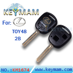 Lexus TOY48 2 button remote key shell(41mm)
